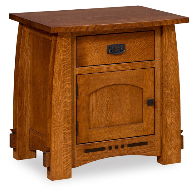 The Colebrook 1 Door 1 Drawer Nightstand from Amish Furniture Factory