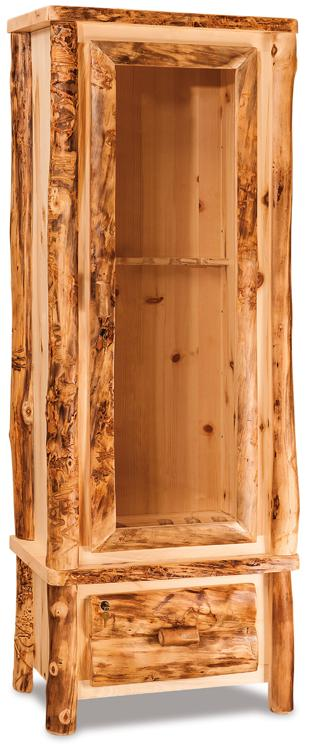 The Fireside Rustic 6 Gun Cabinet from Amish Furniture Factory