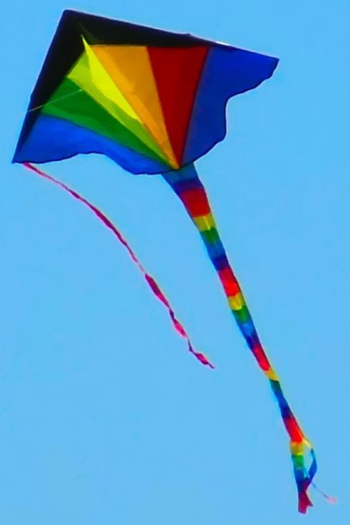 A multicolored triangle kite