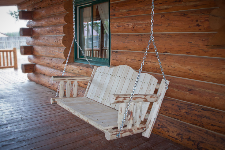The Montana Porch Swing from Amish Furniture Factory