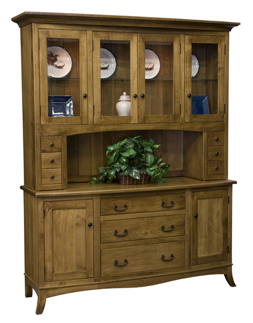An Amish hutch is the perfect addition to a dining room