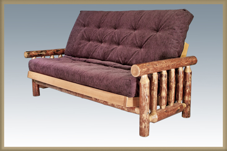 Sleep Concepts Mattress Futon Factory Amish Rustics: Glacier Country Futon Frame With Mattress