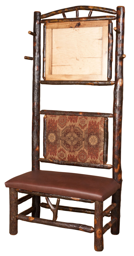 Hall Bench W Mirror And Coat Hooks Amish Furniture Factory