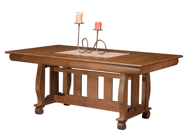 hampton dining table trestle dining room table amish furniture
