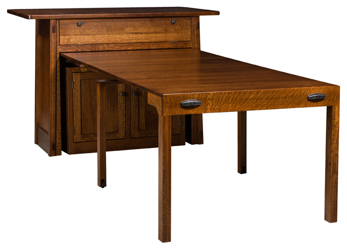 Colbran Frontier Island With Pull Out Table Amish