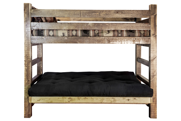 Amish Bunk Bed | Bunk Bed Over Futon - Amish Furniture Factory