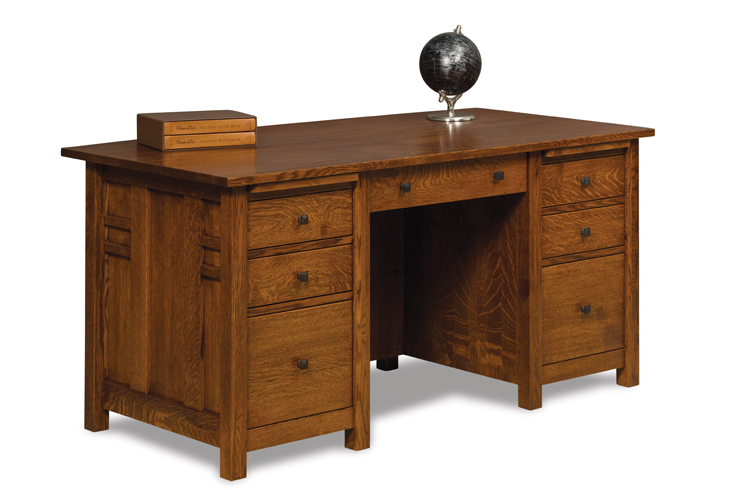 Kascade 7 Drawer Desk With Unfinished Backside 2167 00