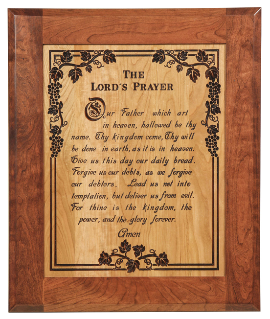 Lord S Prayer Plaque Amish Furniture Factory