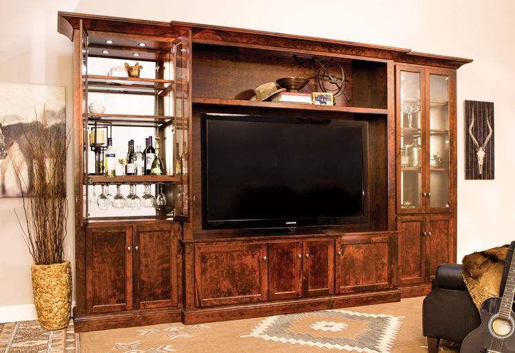 Flat Panel Tv Wall Unit Real Wood Entertainment Center