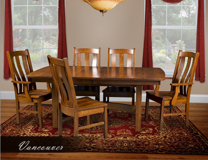 Vancouver dining room set amish furniture factory for Dining room tables vancouver