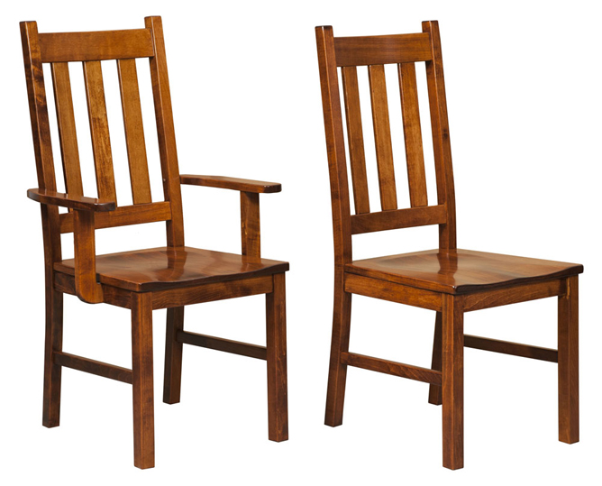Denver dining chair amish furniture factory