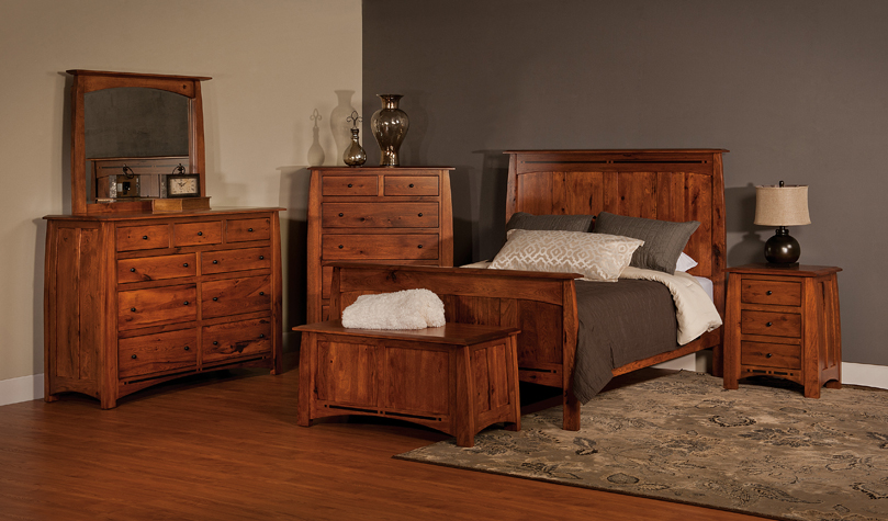 Bed And Dresser Set Amish Solid Wood Bedroom Set Amish
