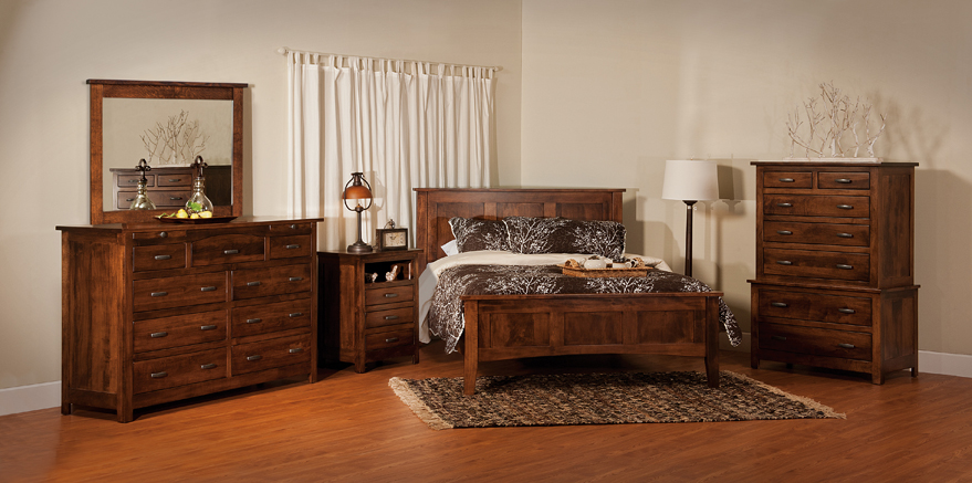 Flush Mission Bedroom Set - Amish Furniture Factory