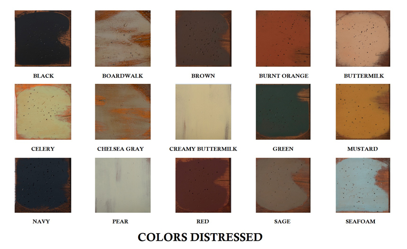 Distressed Color Options