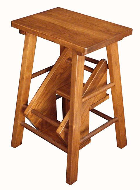 Wooden Folding Step Stool Folding Kitchen Step Stool