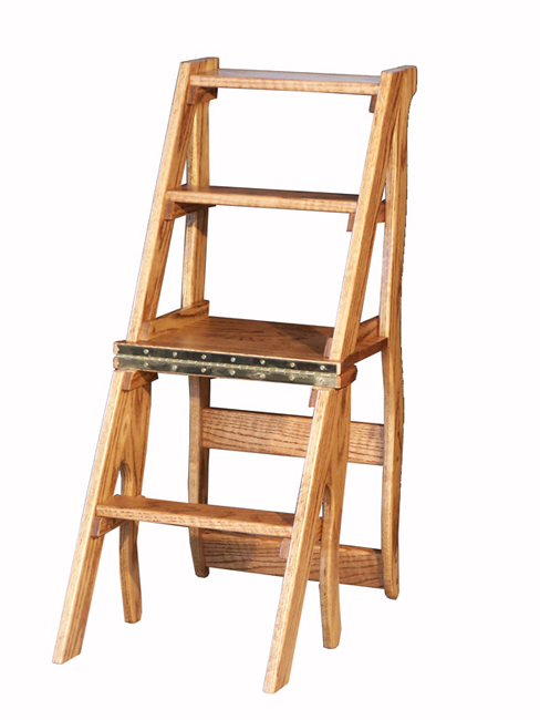 Folding Library Chair To Step Ladder Ben Franklin Chair