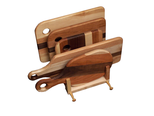 Cutting Board Set Amp Stand Amish Furniture Factory