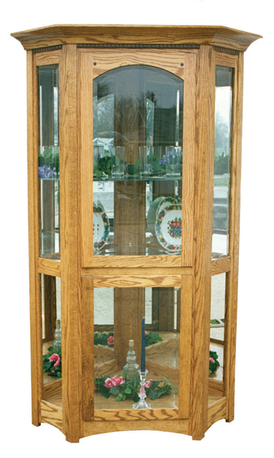 Royal Mission Corner Curio Cabinet Amish Furniture