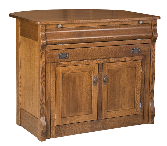 Frontier Island Buffet with Pull Out Table | Amish ...