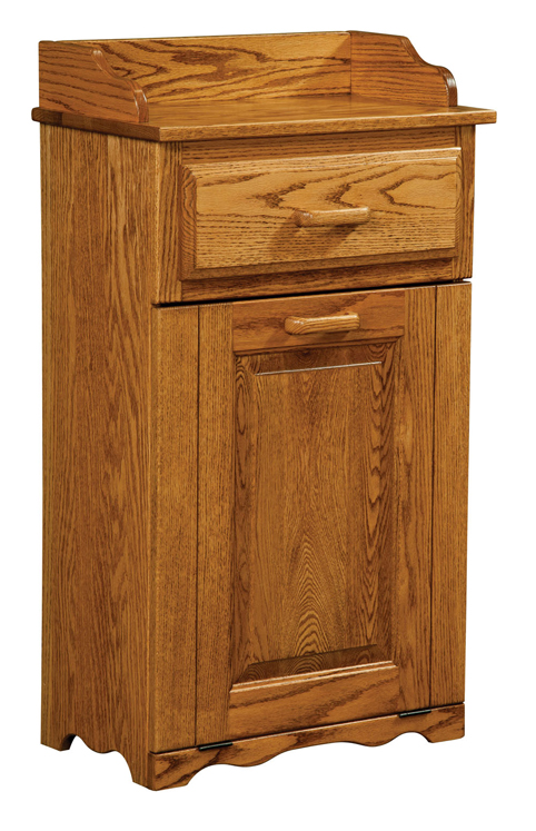 Top drawer tilt out trash bin amish furniture factory amish furniture factory - Amish tilt out trash bin ...