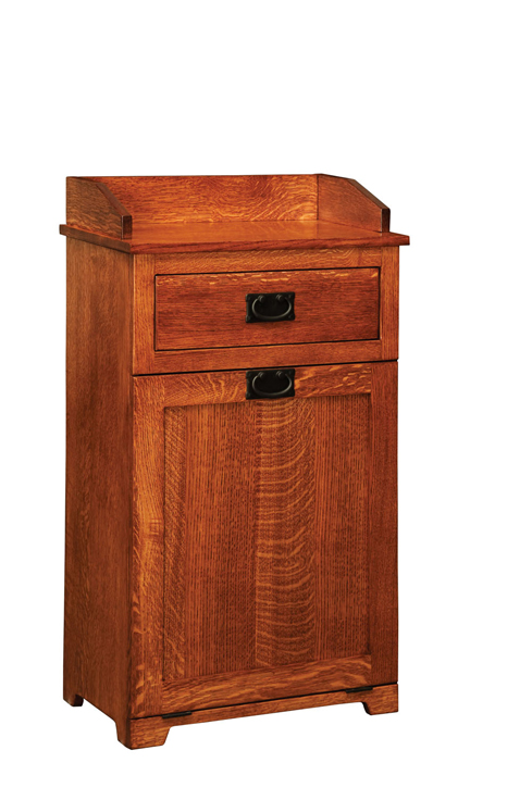 Wood tilt out trash bin wooden trash can tilt out amish furniture factory - Amish tilt out trash bin ...