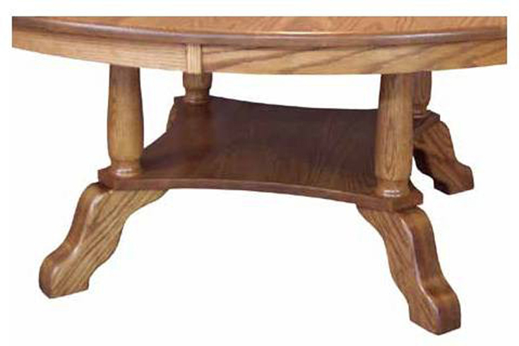 Traditional Round Top Dining Table Amish Furniture