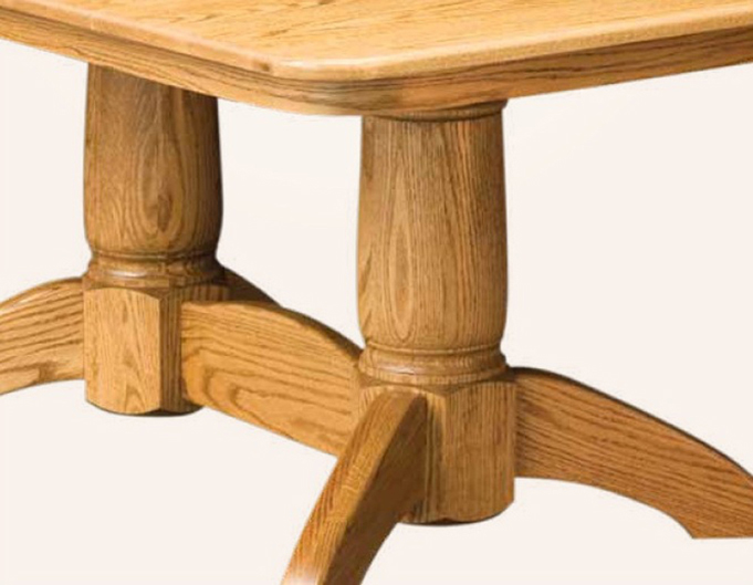 Tuscan Rectangular Double Pedestal Dining Table Amish Furniture