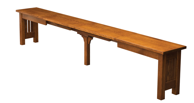 Mission Trestle Dining Table