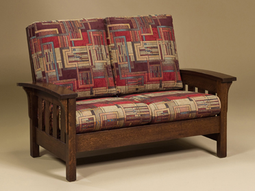 Bow Arm Loveseat
