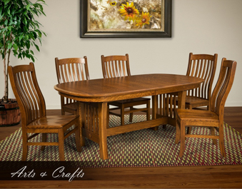 Arts Crafts Dining Set