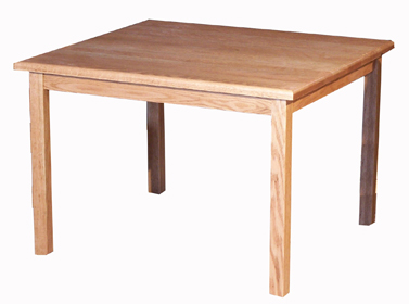 "Kid's Oak 26""w x 30""d Rectangle Table"