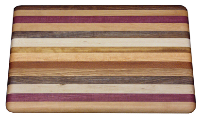 Large Exotic Mixed Wood Cutting Board