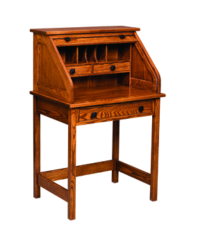 "30"" Post Mission Rolltop Writing Desk"