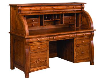 """65"""" Castlebury Rolltop Desk"""