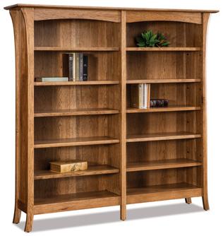 Ensenada 10 Shelf 6' Double Bookcase