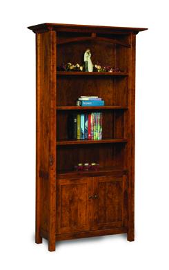 Artesa 4 Shelf 2 Door Bookcase