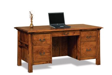 Artesa 5 Drawer Desk with Unfinished Backside