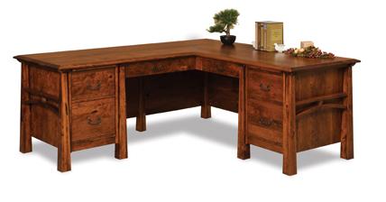 Artesa 6 Drawer L Desk with Finished Backside
