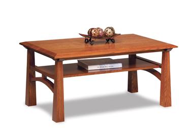 Artesa Open Coffee Table with Shelf