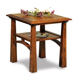 Artesa Open End Table with Shelf