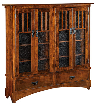 """60"""" Mission Display Bookcase with 4 Door and 2 Drawer (HDMB12D)"""