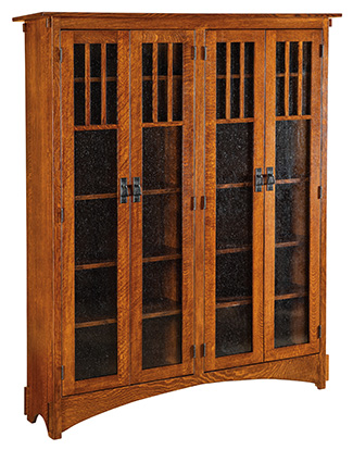 """72"""" Mission Display Bookcase with 4 Door (HDMB16)"""