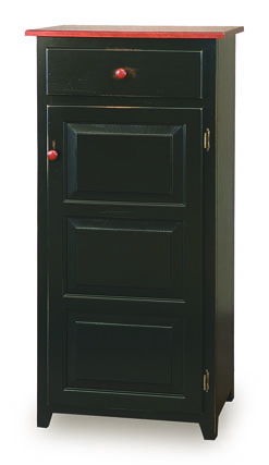 "Classic 22"" Pie Safe with  Drawer & Raised Panel Door"