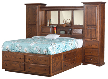 """78"""" Trail Wall Unit with Platform Bed"""