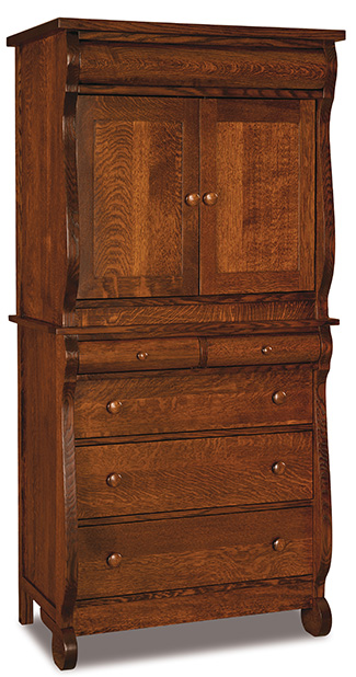 Old Classic Sleigh 2 Drawer 2 Door Armoire - 2 Piece
