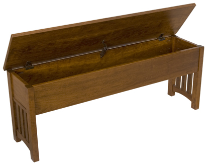 24 Quot 60 Quot Mission Storage Benches Amish Furniture Factory
