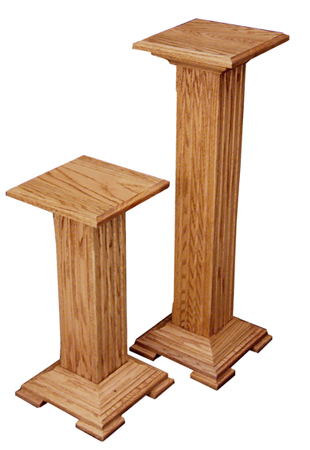 Oak Pedestal Plant Stand Amish Furniture Factory Amish