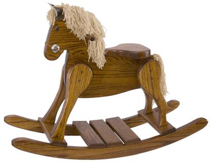 Oak Small Deluxe Rocking Horse