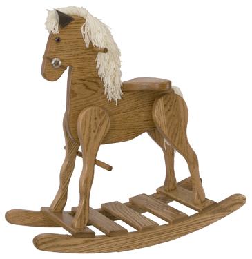 Medium Oak Rocking Horse
