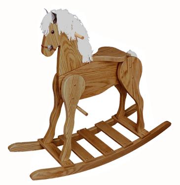 Large Oak Rocking Horse